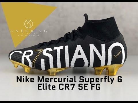 692ac7ba728d Nike Mercurial Superfly VI Elite CR7 SE FG 'blk/mtlc gold' | UNBOXING & ON  FEET | football boots - YouTube