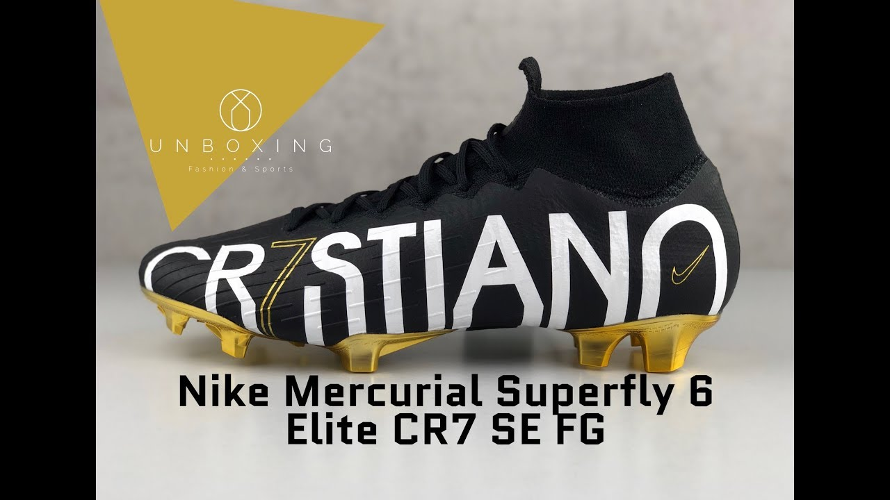 0f6fdbe0a Nike Mercurial Superfly VI Elite CR7 SE FG 'blk/mtlc gold' | UNBOXING & ON  FEET | football boots