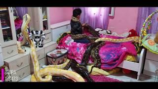 10 افاعي عملاقه تعيش مع الطفل ماوكلي في غرفته وتنام تحت سريره مع جمال العمواسي