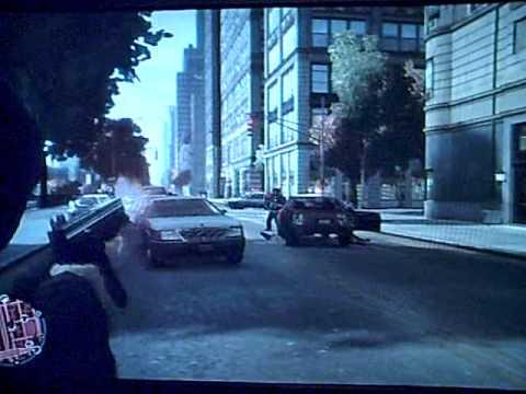 GTA IV - Street Police Shootout