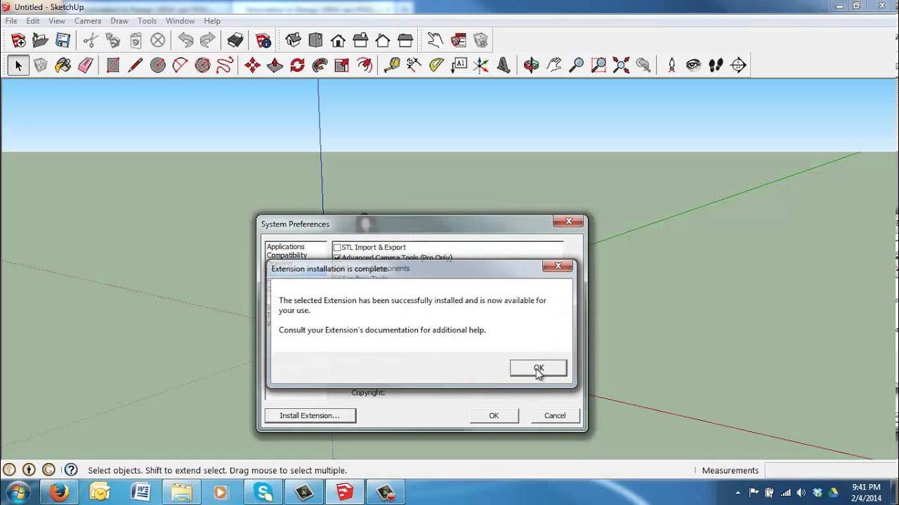 Stl plugin for sketchup make youtube for Stl file sketchup