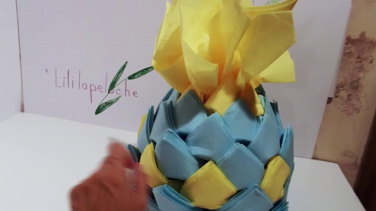 distributeur de serviettes ananas - napkin pineapple @ - youtube