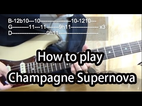 How to play Champagne Supernova-Oasis Guitar Tutorial with tabs ...
