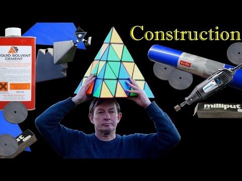Giant Master Pyraminx Puzzle: How I made it / Construction / Mechanism revealed
