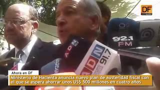 Ahora en DF: Ministerio de Hacienda anuncia ajuste fiscal