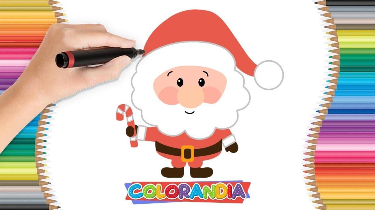 Papai Noel Feliz Natal Colorir Jogos De Pintar Desenhos Animados