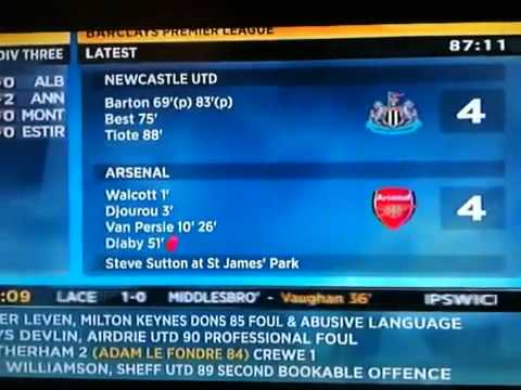 Newcastle 4 4 Arsenal Football Presenter On Final Score Shocked Must See Youtube