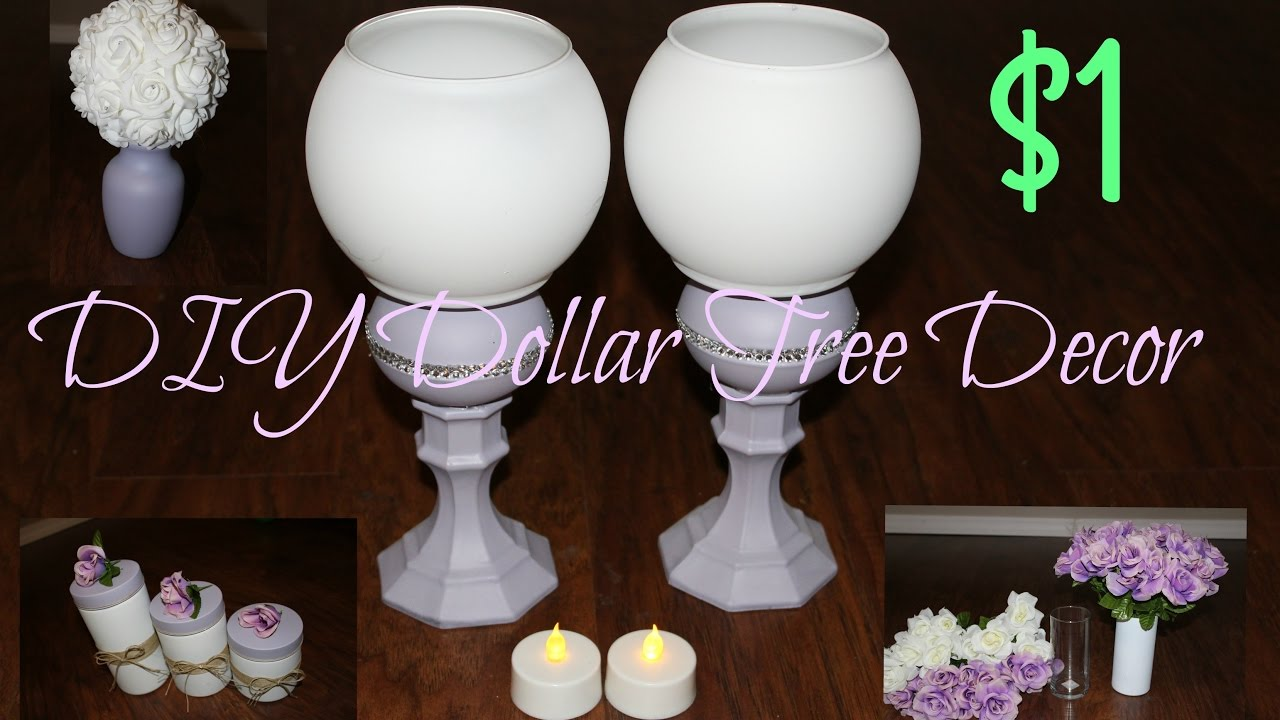 Easy Dollar Tree DIY wedding or home decor Dollar store - YouTube
