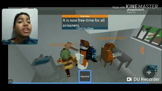 I escaped from prison with my friends! ROBLOX