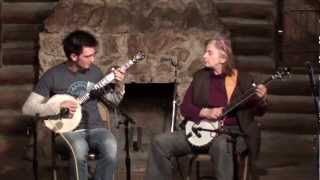Cathy FInk and Adam Hurt play Coleman's March at Suwannee Banjo Camp, 3.15.13