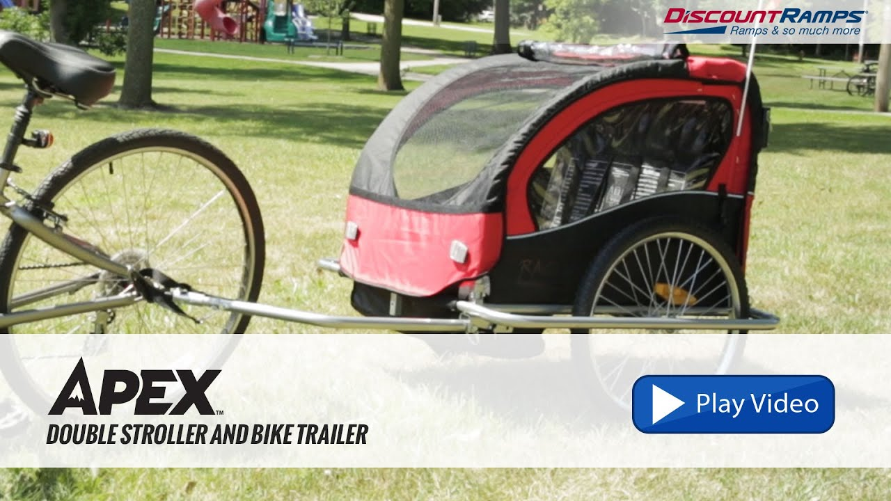 8ce74ea7ffc Apex Double Stroller and Bike Trailer - YouTube