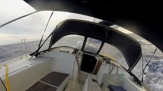Rough Seas on my 1200nm Solo Sail