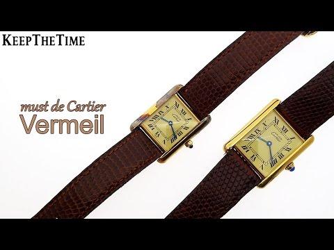 Cartier Vermeil Argent Tank Style (Vintage Couple's Watches)