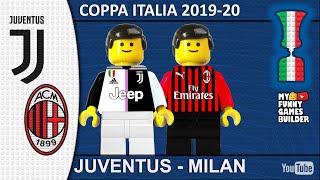 Juventus Milan 0 0 1 1 LEGO Coppa Italia Coca Cola 2020 Penalty Fail Lego Football