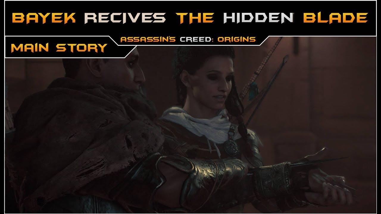 Assassin S Creed Origins Bayek Receives The First Hidden Blade