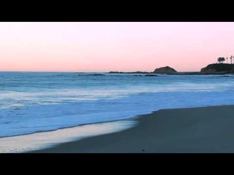 HD Relax at Laguna Beach California during a sunrise as ocean waves calm you.  Relax Naturally
