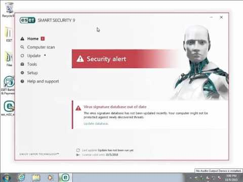 Activate ESET Smart Security or ESET NOD32 Antivirus using a License Key 9 x