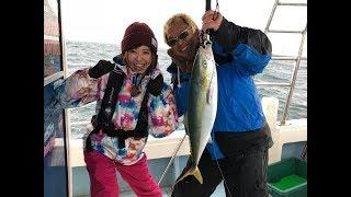和歌山県は紀北の沖での青物ジギングに久保浩一さんと河原さゆりが挑戦...