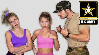 Teenage Girls try the US Army Fitness Test