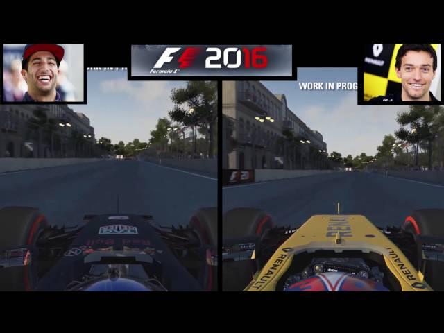 F1 2016 Daniel Vs Jolyon laps
