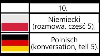10. Niemiecki (rozmowa, część 5) - Polnisch (konversation, teil 5).