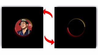 Wow Colourful Circle Glowing Effects #5|Black Screen Template Video Editing |GB Particles