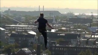 nik wallenda death defying stunt oct 15 2008