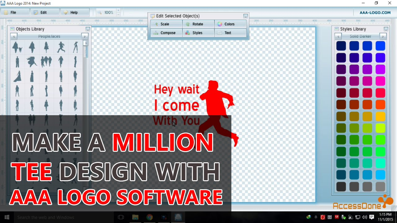 Design t shirt software - How To Make A Million T Shirt Design With Aaa Logo Software