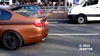 New 2011 BMW 5 Series w  Hamann Bodykit spotted in Düsseldorf! Great looks and sound! 1080p HD