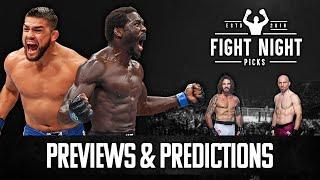 UFC Fight Night: Cannonier vs. Gastelum Full Card Previews & Predictions