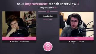 Azer Interview - HappyStick osu! Improvement Month