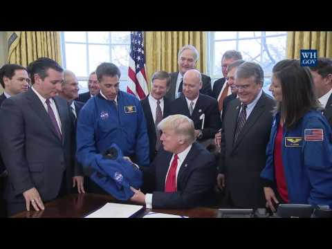 President Trump Signs 2017 NASA Authorization Act, March 21, 2017