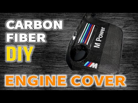 Carbon Fiber Engine Cover with Epoxy Resin [DIY]