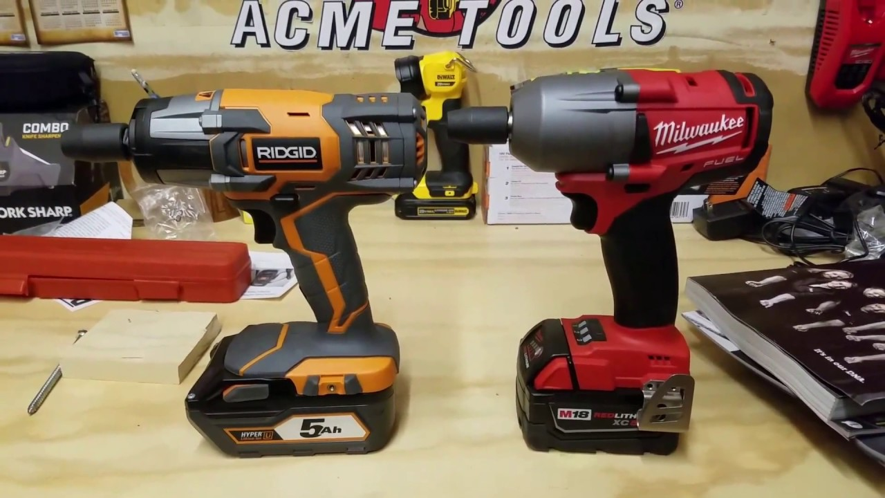 Milwaukee M18 Fuel Mid Torque Vs Ridgid Impact Wrench Sd Face Off F N