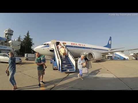 Перелёт Минск - Бургас, Белавиа/Belavia 02.07.2017