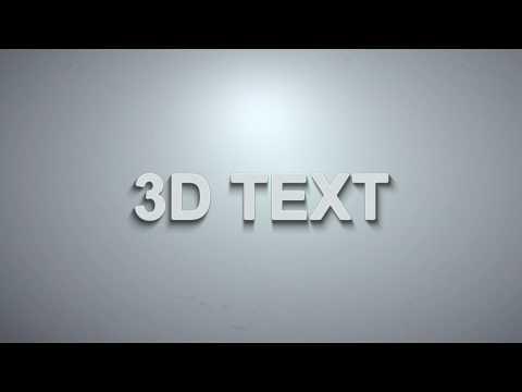 Sony Vegas: 3D Light Text Shadow + Sound Effects