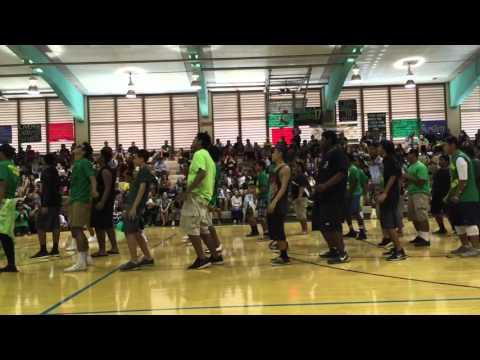 Kaimuki High School 2015 Homecoming Pep Rally: JV Football Boys Performance