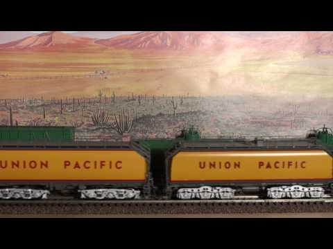 HO UNION PACIFIC 3985 WITH 2 TENDERS AND STEAM TOOL CAR OVERLAND
