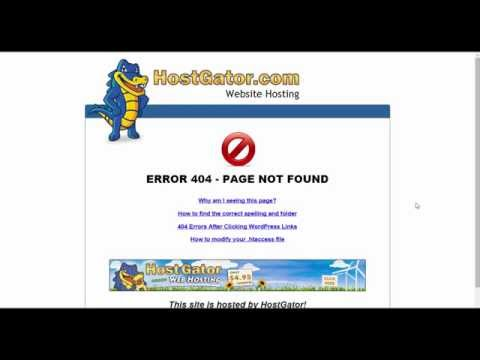 Hostgator - How to configure your 404 error page