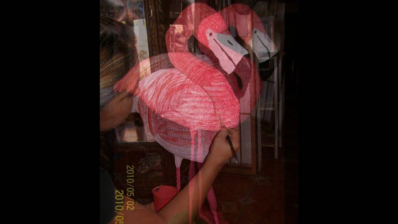 Como Hacer Un Flamingo Con Periodicos