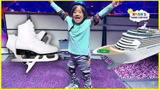 Ryan Ice Skating for the first time on the World Largest Cruise Ship!!!