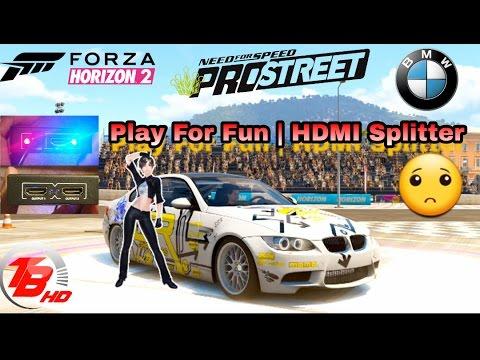 forza horizon 2 play for fun hdmi splitter no ps3 game. Black Bedroom Furniture Sets. Home Design Ideas