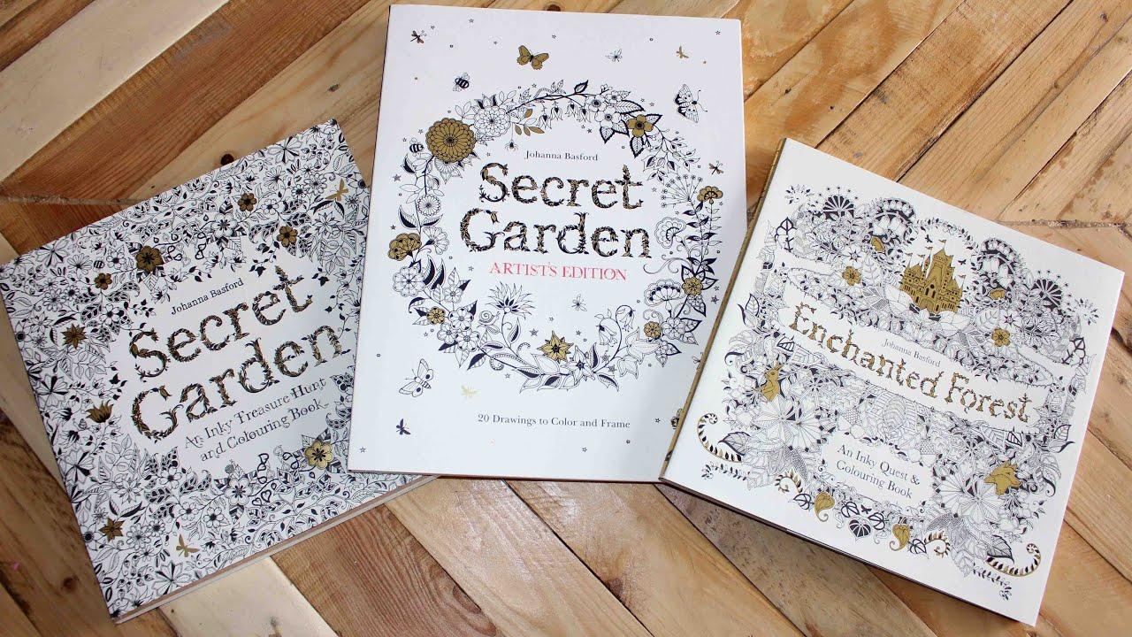 El jardín secreto EDICIÓN ARTISTAS y El bosque encantado VERSIÓN ...
