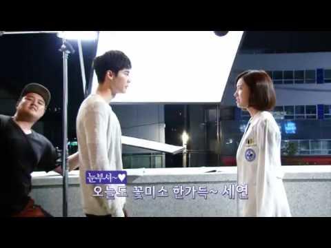 Lee Jong Suk & Jin Se Yeon in Doctor Stranger BTS