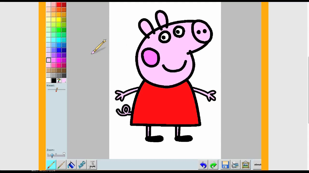 Kids online coloring and painting games - Peppa Pig Painting Game 2015 Fun Fun Fun Kids Free Online Games
