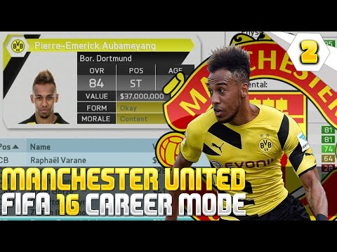 Aubameyang To The BPL! - Fifa 16 Manchester United Career Mode #02