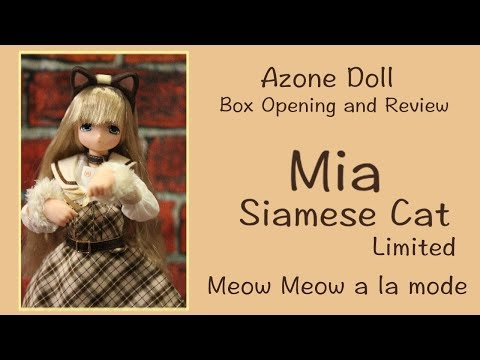 Doll Box Opening and Review: Mia Siamese Cat Doll Show Limited