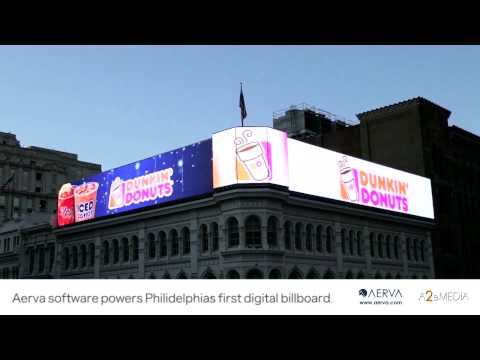 Aerva software powers Philadelphia's first digital billboard atop The Lits Building