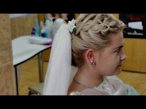 Свадебная прическа на средние и длинные волосы.Прическа на выпускной. Wedding and prom hairstyle