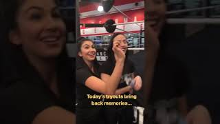 connectYoutube - Billie Kay and Peyton Royce at the NXT Tryouts February 8th 2018